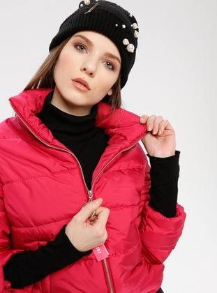 Pink - Fuchsia - Fully Lined - Polo neck - Puffer Jackets