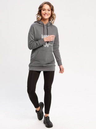 Cotton - Anthracite - Sweat-shirt -  FOR YOUNG