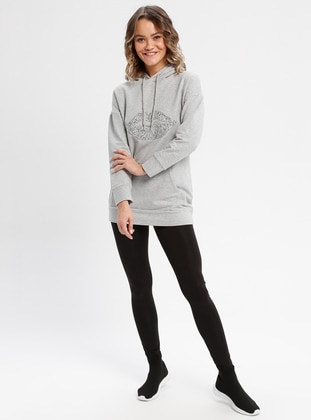 Cotton - Gray - Sweat-shirt -  FOR YOUNG
