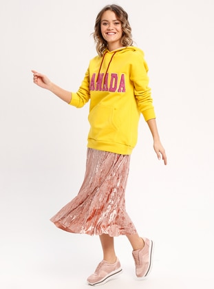 Cotton - Mustard - Sweat-shirt -  FOR YOUNG