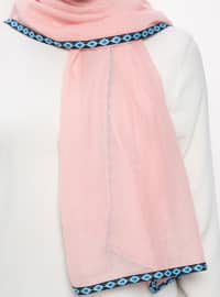 Pink - Patterned Side - Shawl