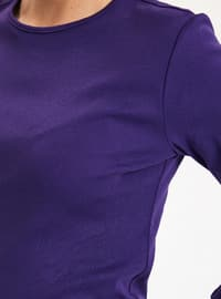 Purple - Crew neck - T-Shirt