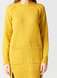 Mustard - Polo neck - Acrylic -  - Tunic