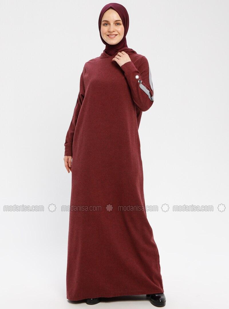 Maroon - Unlined - Dresses