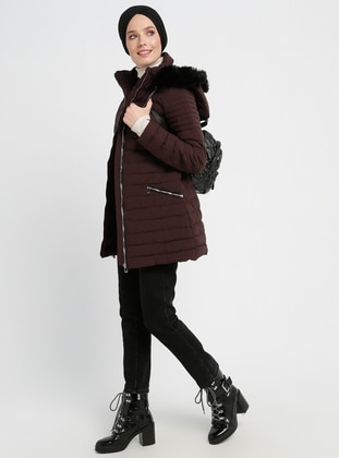 Cherry - Fully Lined - Polo neck - Coat