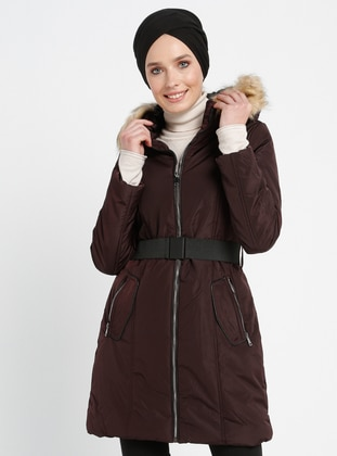 Cherry - Fully Lined - Point Collar - Coat