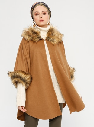 Camel - Point Collar - Unlined - Poncho