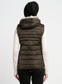 Khaki - Multi - Fully Lined - Coat
