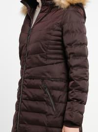 Cherry - Unlined - Polo neck - Coat