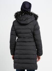 Anthracite - Fully Lined - Polo neck - Coat