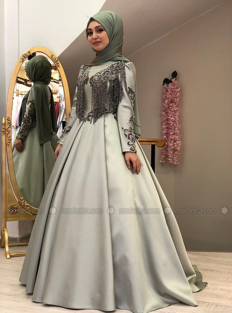 16eebf0876d Mint - Fully Lined - Crew neck - Muslim Evening Dress - My Dream ...