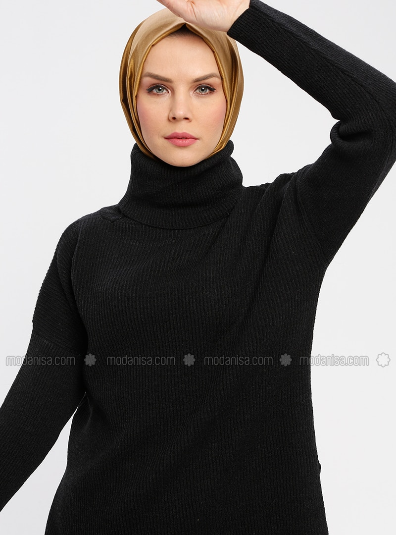 Black - Polo neck - Jumper
