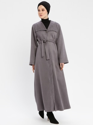 Gray - Fully Lined - Shawl Collar - Coat