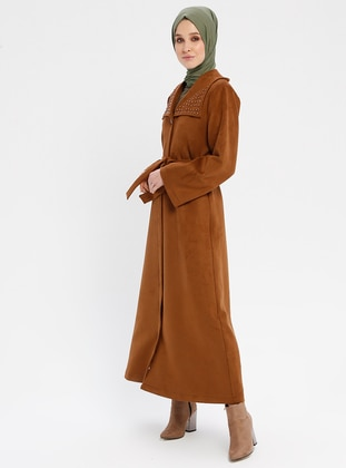 Tan - Fully Lined - Shawl Collar - Coat