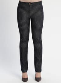 Black - Stripe - Pants