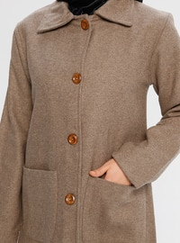 Minc - Fully Lined - Point Collar - Viscose - Coat