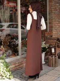 Brown - Unlined - Dresses