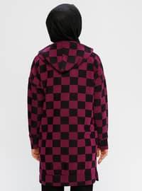 Purple - Checkered -  - Tunic