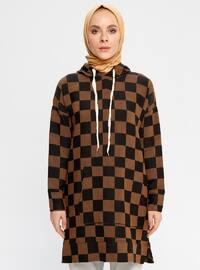 Camel - Checkered -  - Tunic