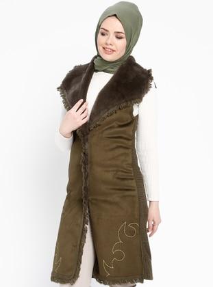 Khaki - Acrylic -  - Maternity Vest - TUĞBA