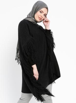 Black - Boat neck - Wool Blend -  - Jumper