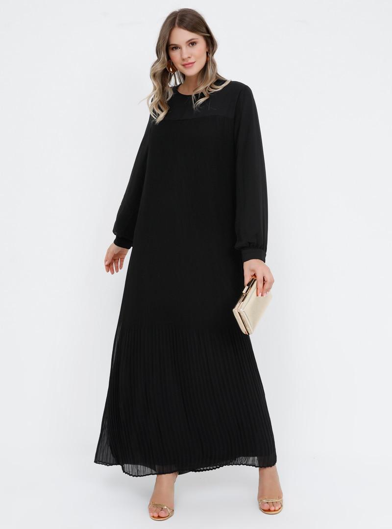 44 female Siyah Büyük Beden Abiye Elbise Alia