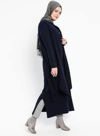 Navy Blue - Crew neck - Unlined -  - Tunic