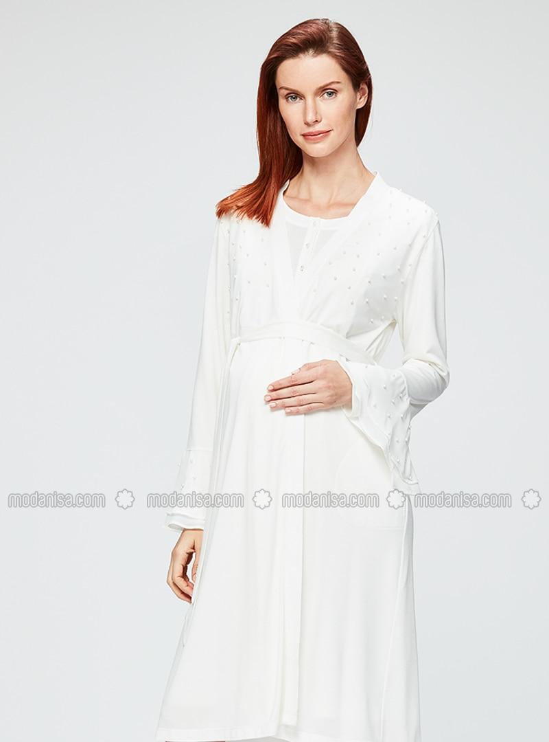 Ecru Morning Robe