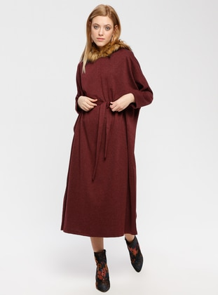 Maroon - Unlined - Poncho