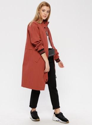 Dusty Rose - Fully Lined - Polo neck - Coat