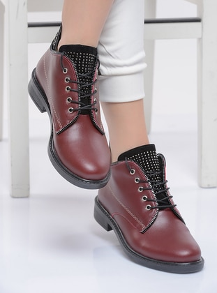 Maroon - Boot - Boots - Shoestime