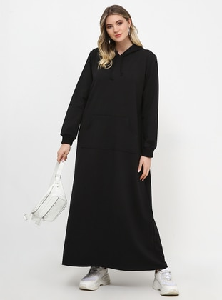 Black - Unlined - Plus Size Dress