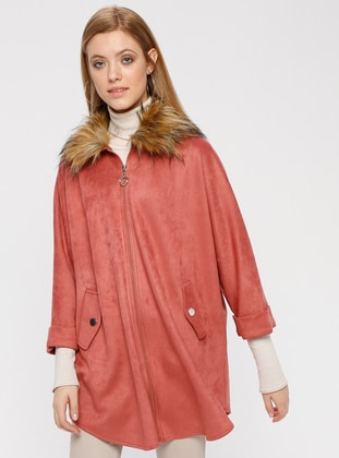 Salmon - Point Collar - Unlined - Poncho