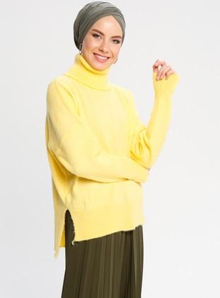 Triko Kazak - Sarı - CE-CE