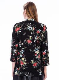 Black - Floral - Jacket