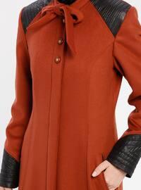 Terra Cotta - Fully Lined - Crew neck - Coat