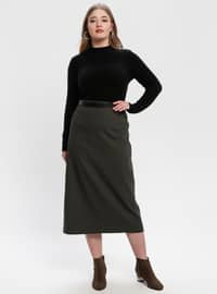 Green - Fully Lined - Plus Size Skirt