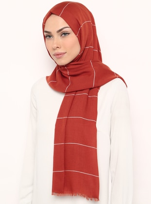 Tan - Striped - Shawl