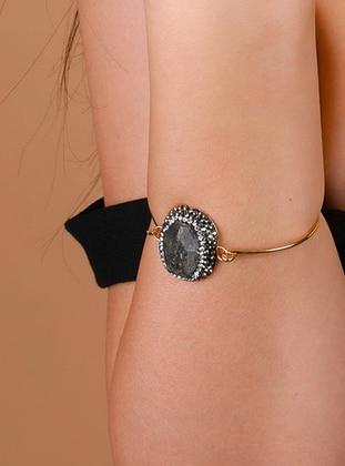 Gray - Golden tone - Bracelet
