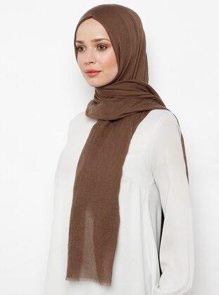 Brown - Plain - Shawl Wrap