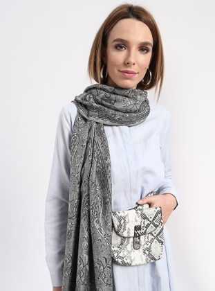 Black - Printed - Shawl Wrap
