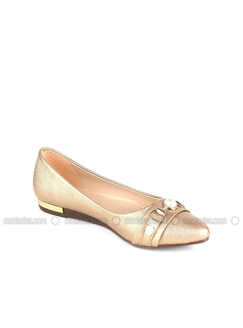 Golden tone - Flat - Flat Shoes