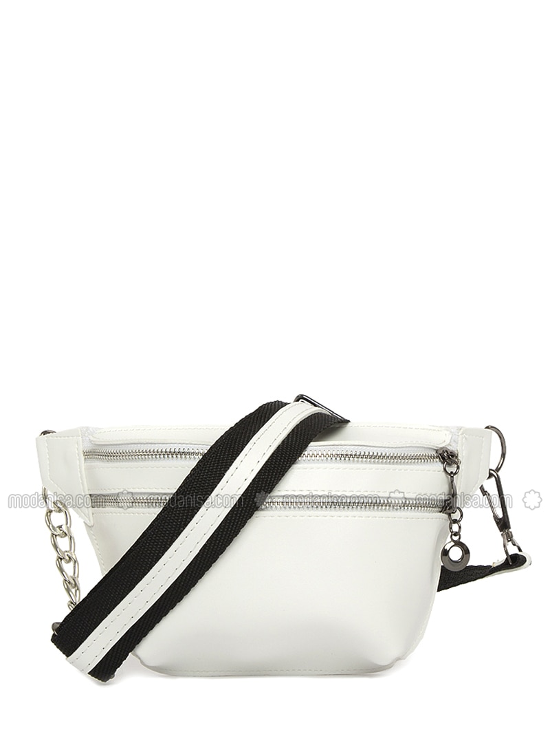 White - Clutch - Bum Bag