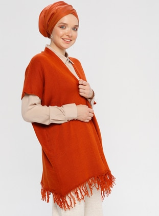 Terra Cotta - Unlined -  - Poncho