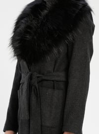 Gray - Anthracite - Fully Lined - Shawl Collar - Coat