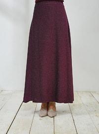 Plum - Fully Lined - Skirt