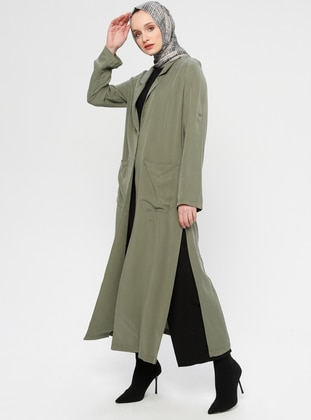 Khaki - Unlined - Shawl Collar - Topcoat