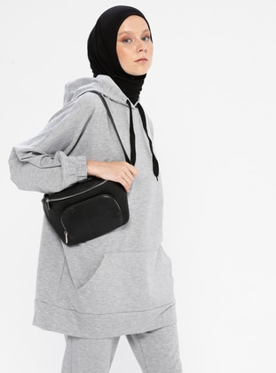 Gray - Cotton - Tracksuit Top