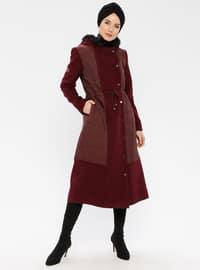 Maroon - Fully Lined - Nylon - Coat