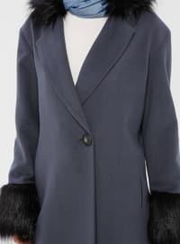 Blue - Fully Lined - Shawl Collar - Coat